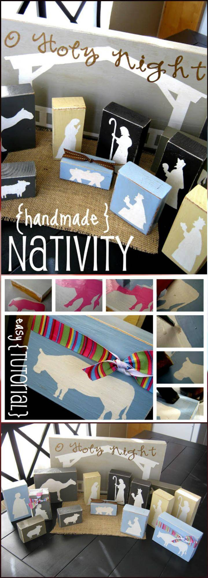 self-made vinyl omtwi finale block nativity set