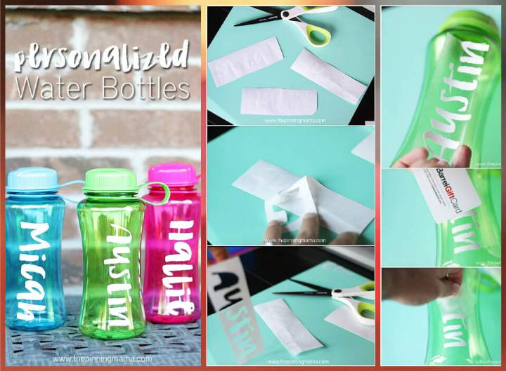 easy vinyl paper transfer customized water bottles