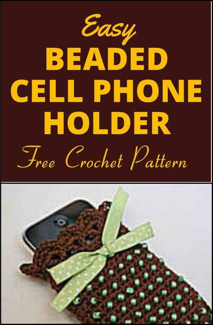 free beaded cell phone holder crochet pattern