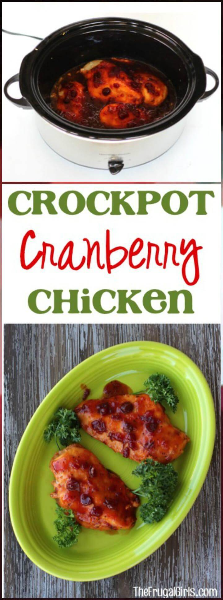 quick-to-cook crockpot cranberry chicken recipe