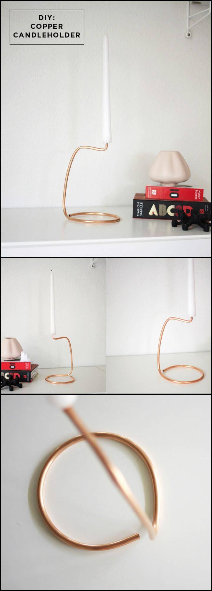 handmade easy copper wire candle holder
