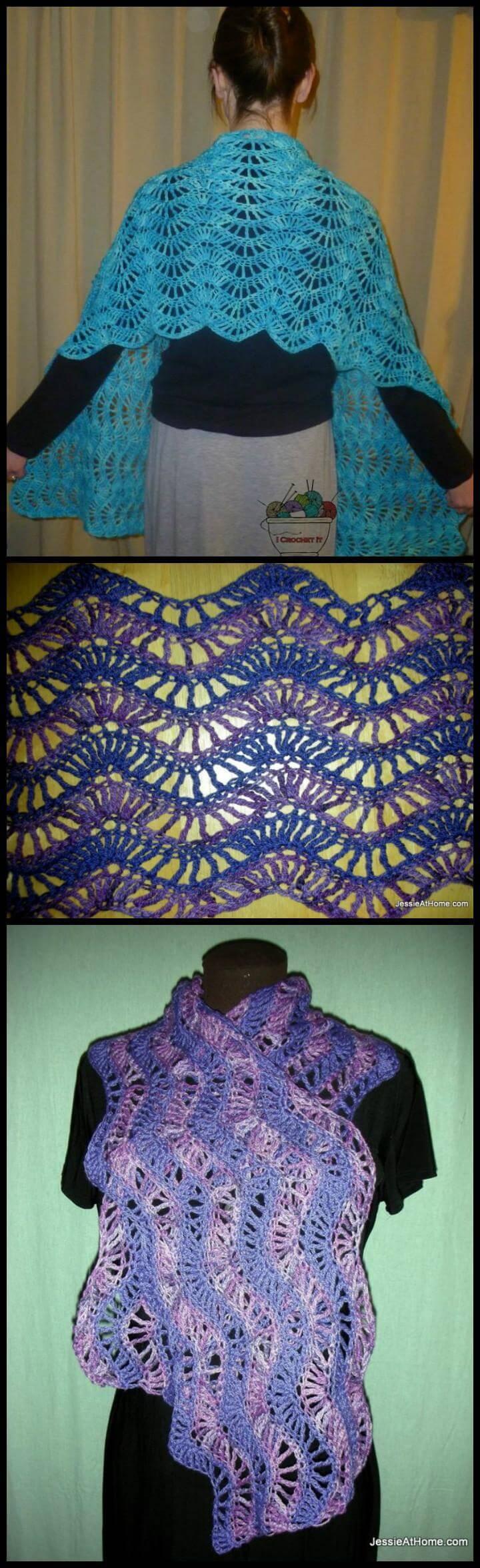 free crochet extended ripple