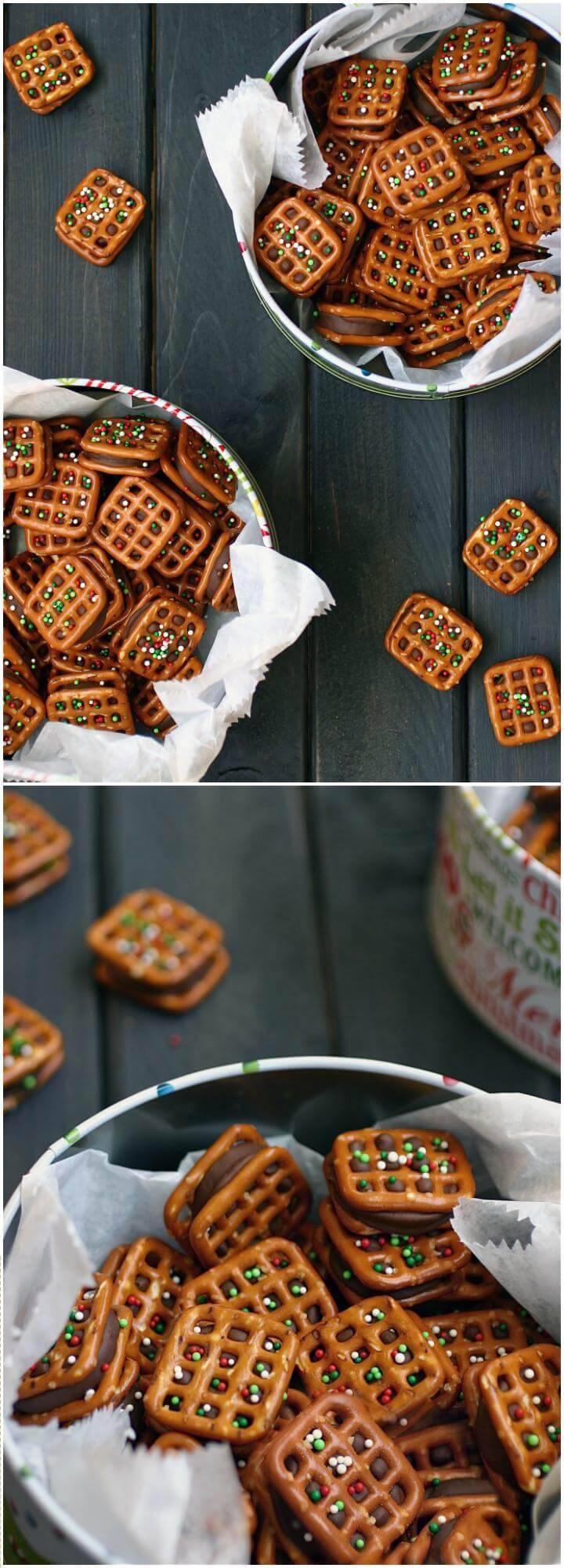 easy and quick rolo pretzel bites