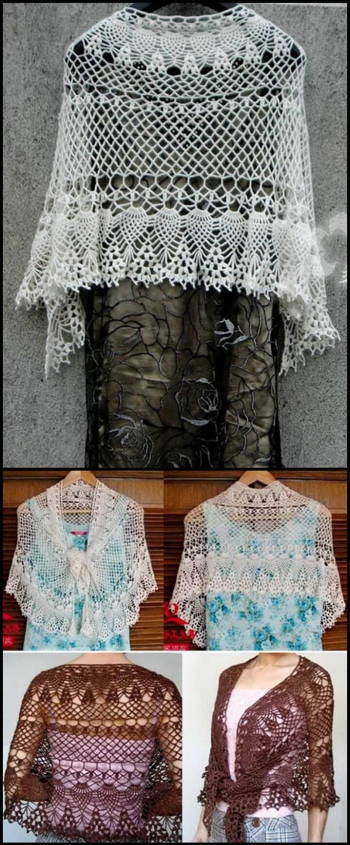 free crochet lace shawl pattern