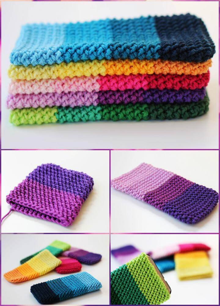 precious ombre crochet herringbone phone cover