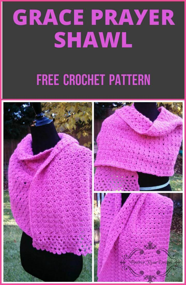 free crochet grace prayer shawl pattern