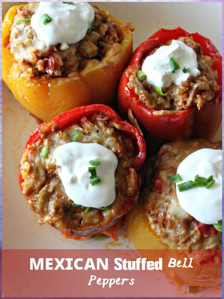 super yummy Mexican stuffed bell peppers