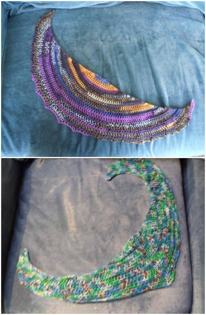free crochet pico Bandito shawl
