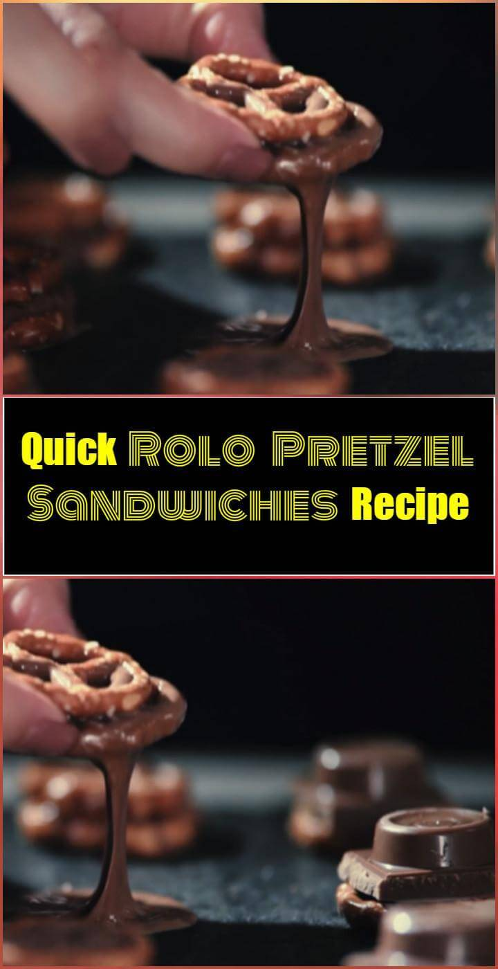 easy and quick rolo pretzel sandwiches recipe