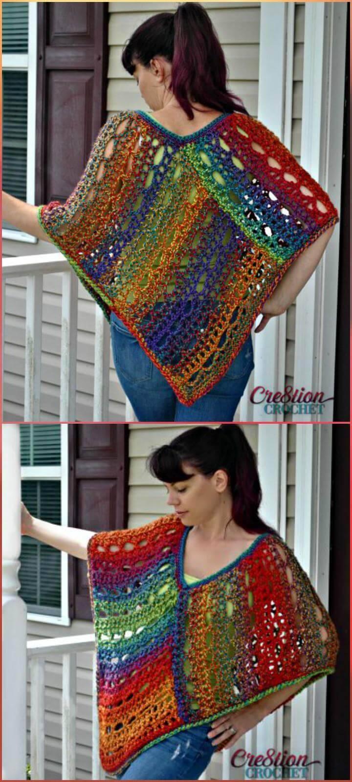 free crochet lace poncho
