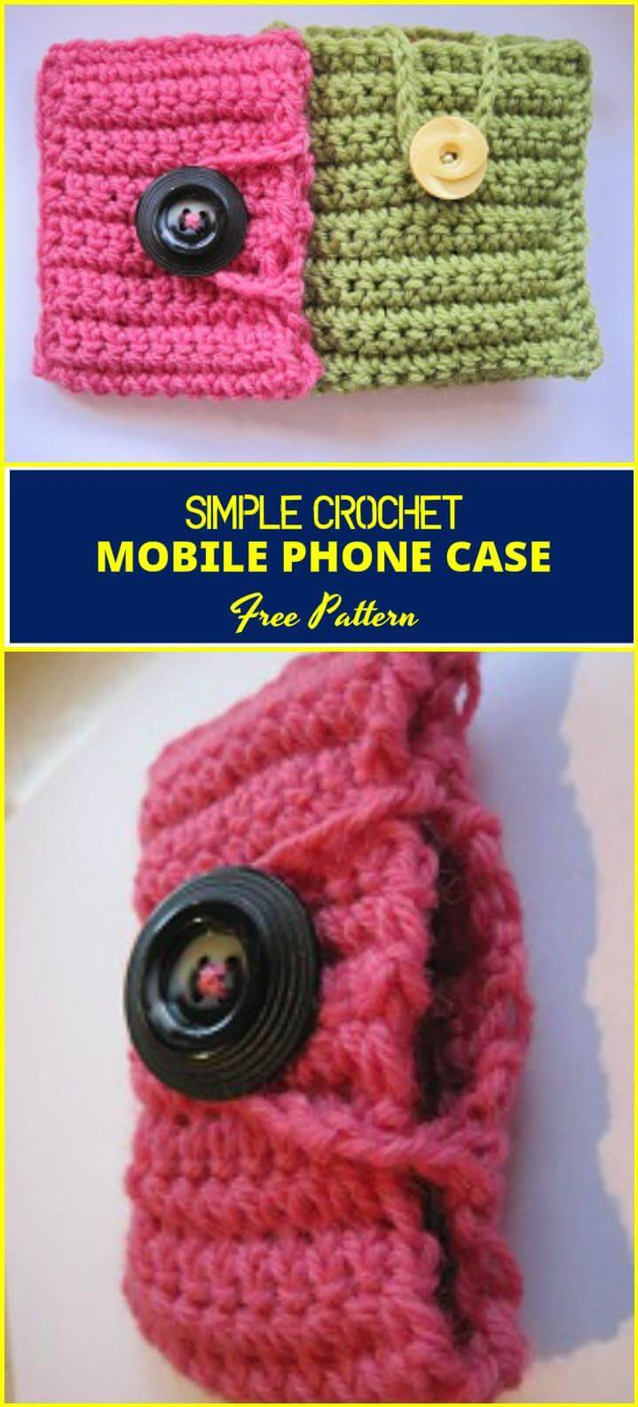 simple and easy crochet mobile phone case