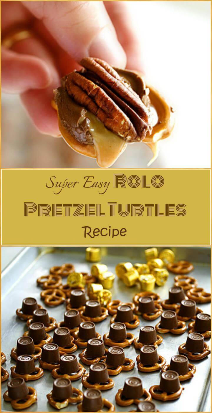 easy and super delicious Rolo pretzel turtles