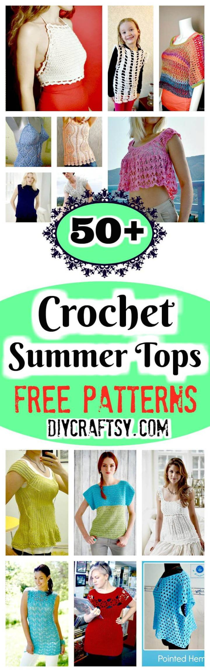 Crochet Summer Tops - Free Patterns