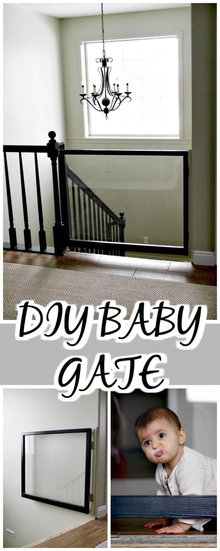 DIY handmade baby gate