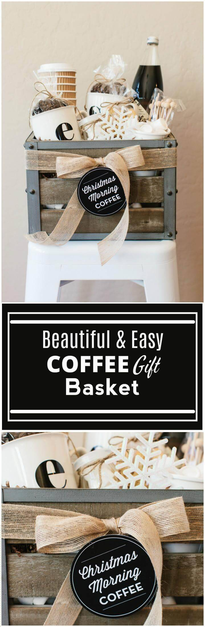 easy yet beautiful coffee gift basket