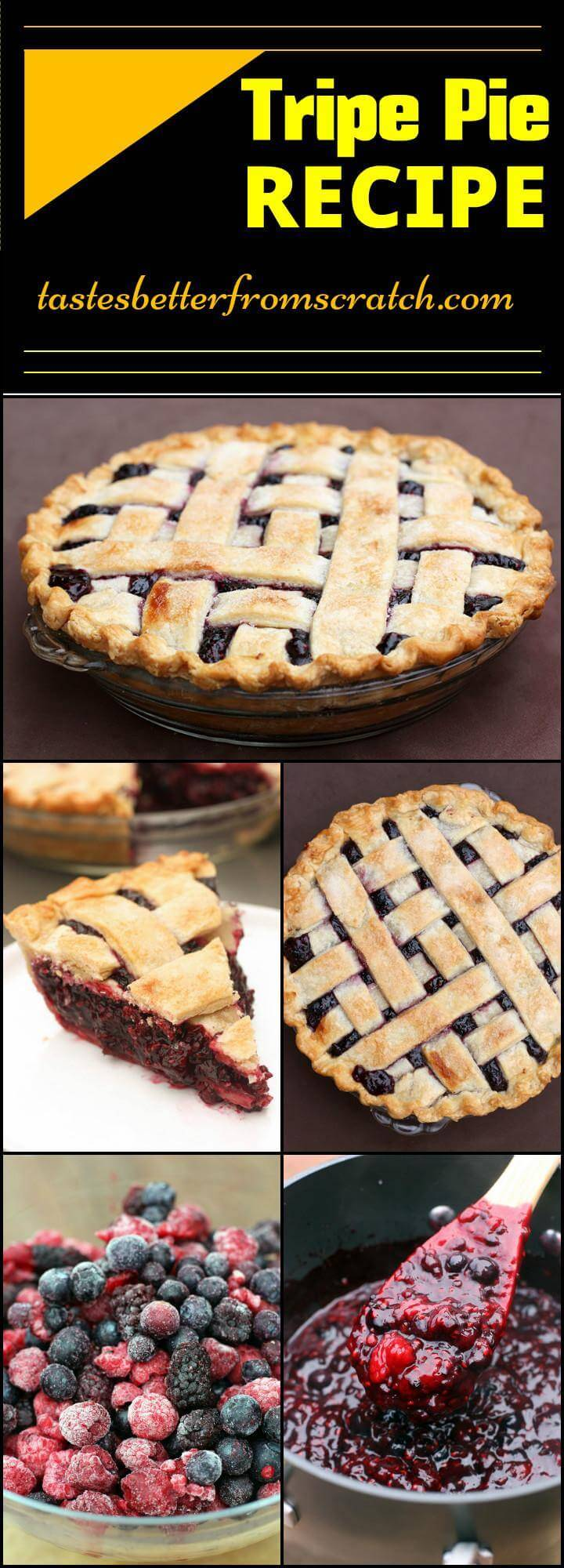 easy brunch dessert Triple Pie