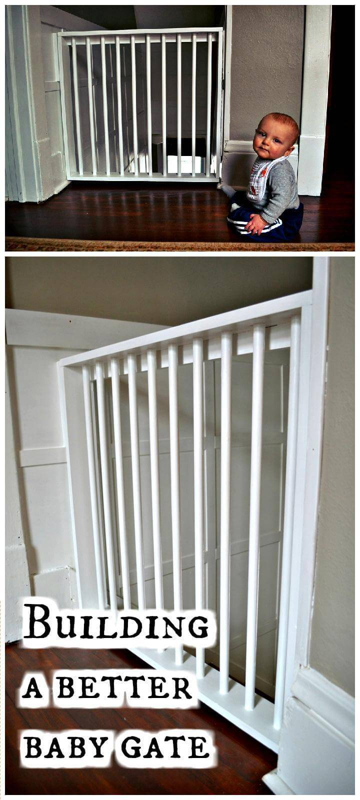 DIY tutorial about building a better baby gate