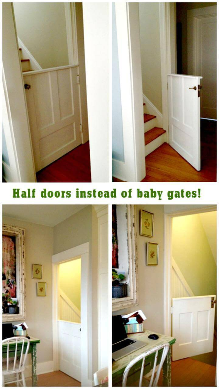 super charming and safe DIY baby gates