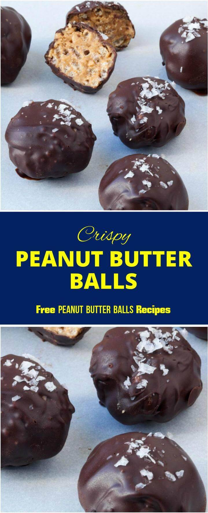 chocolate covered crispy peanut butter balls