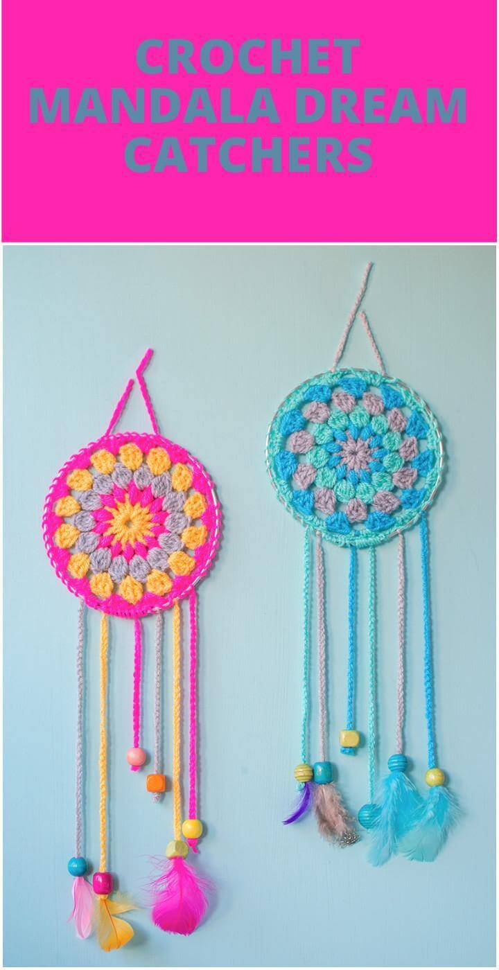 easy crochet mandala dream catcher