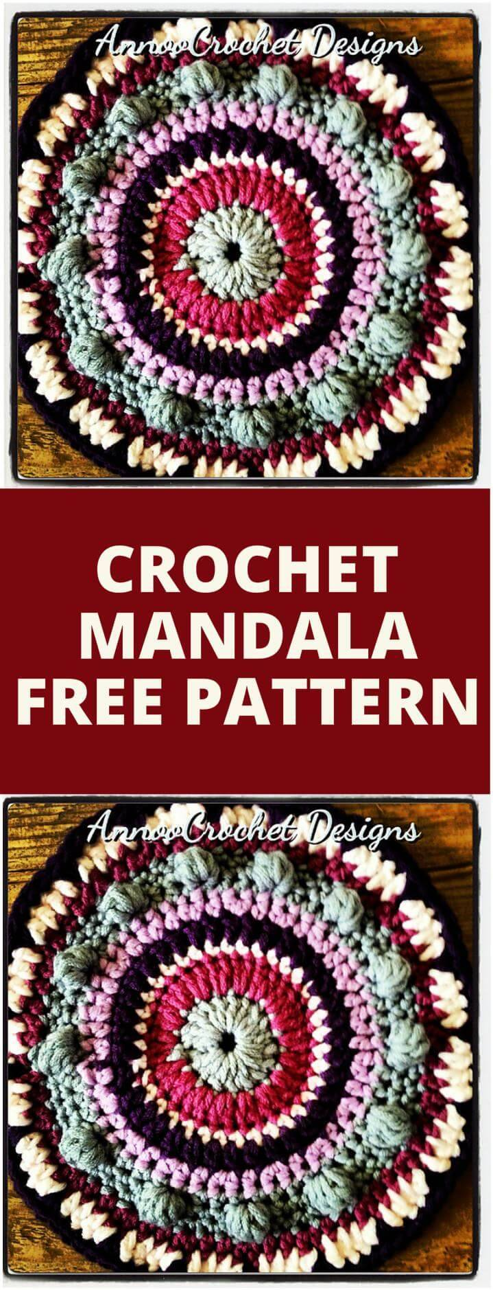 beautiful crochet free mandala pattern