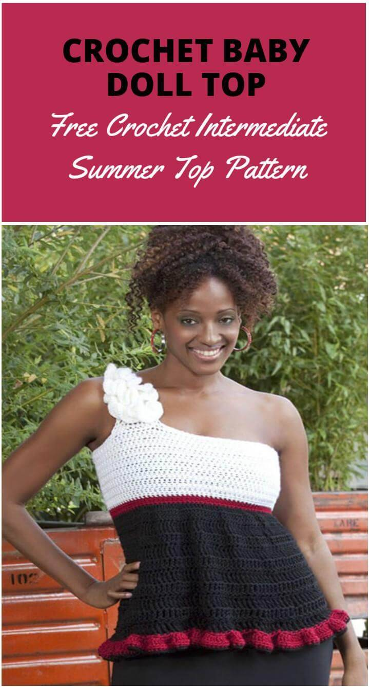 crochet baby doll style summer top