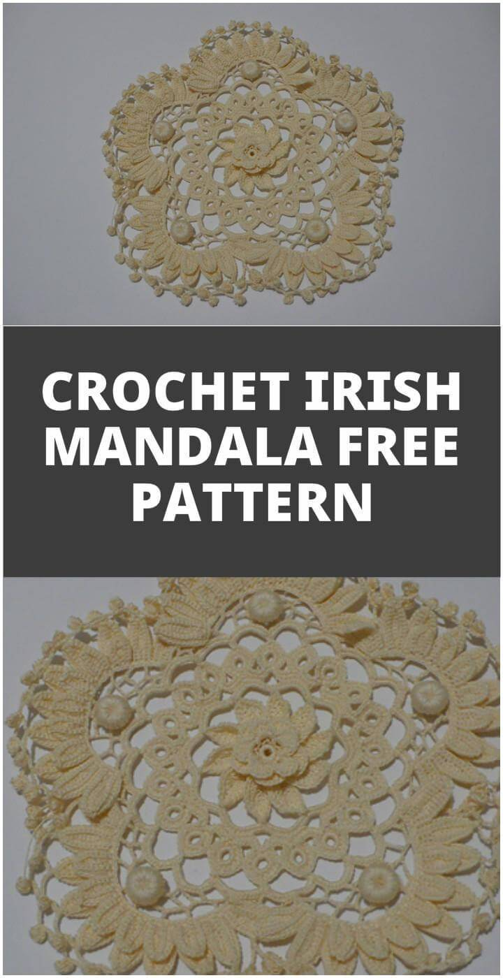 easy crochet Irish mandala