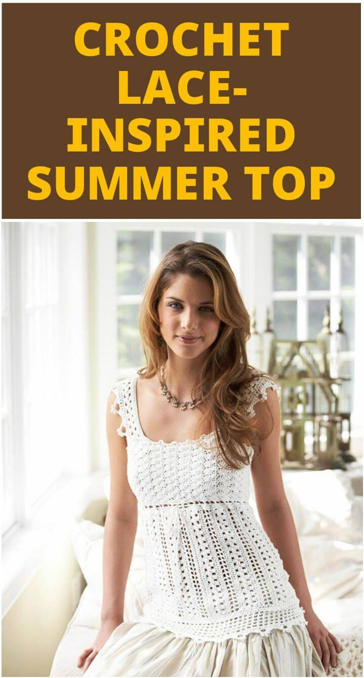 free crochet lace-inspired summer top