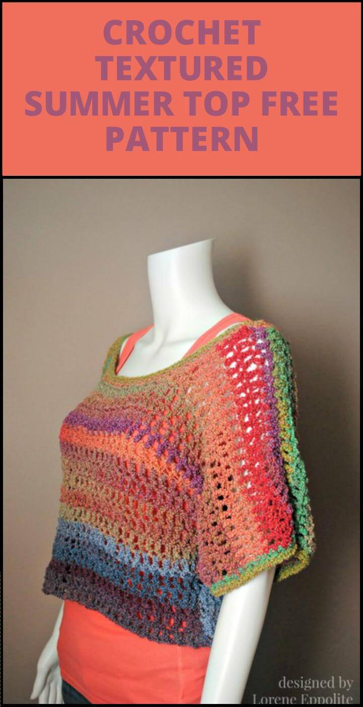 free crochet textured summer top free pattern