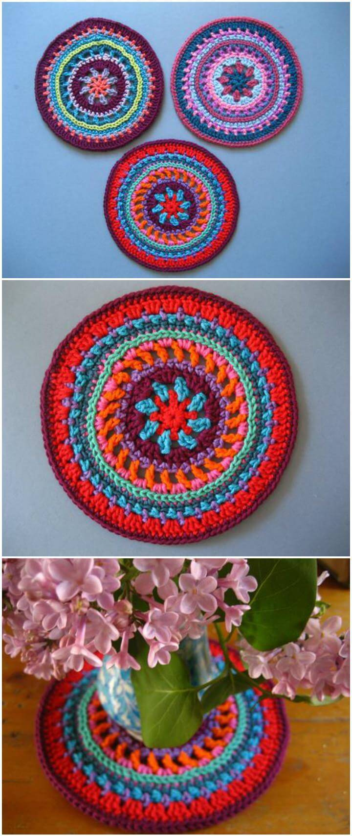 free crochet attic 24 mandala wheel