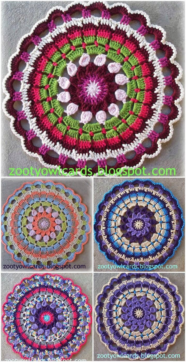 easy crochet dahlia mandala