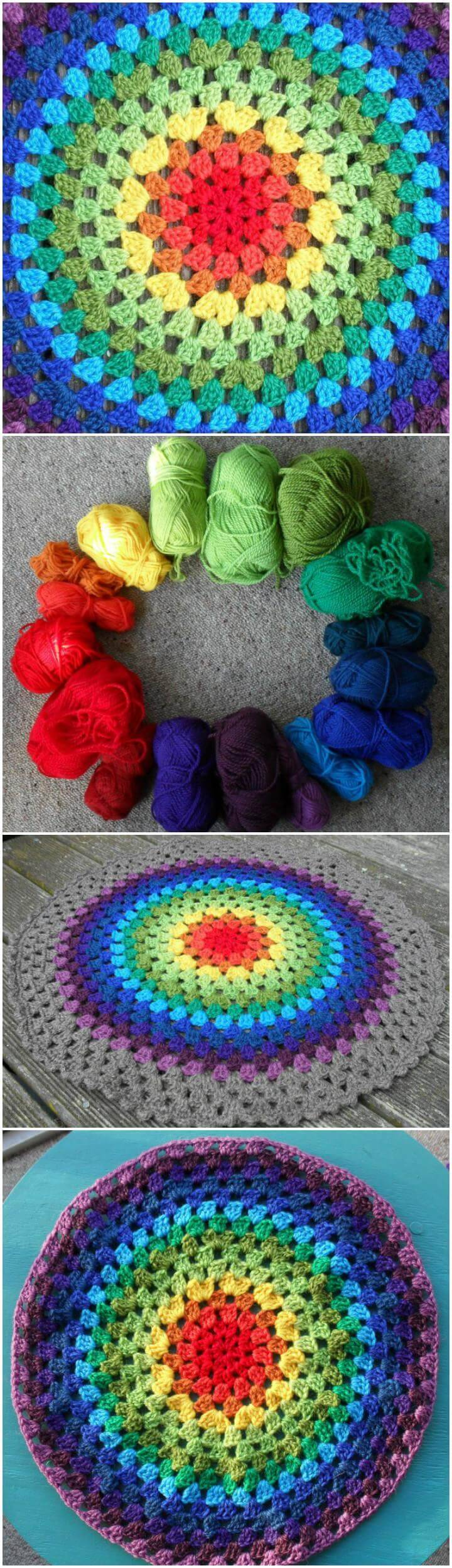 super beautiful crochet granny mandala