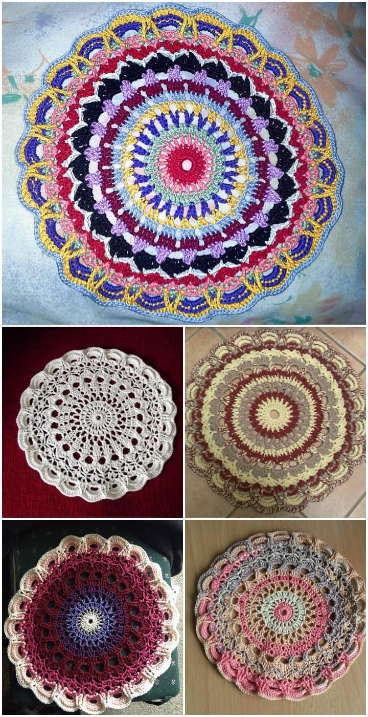 free crochet mandala 21 pattern