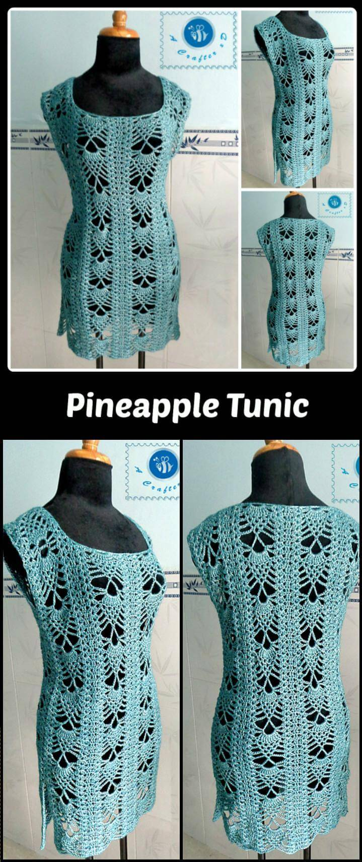 free crochet pineapple tunic
