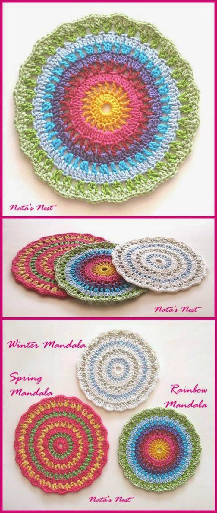 epic crochet rainbow mandala