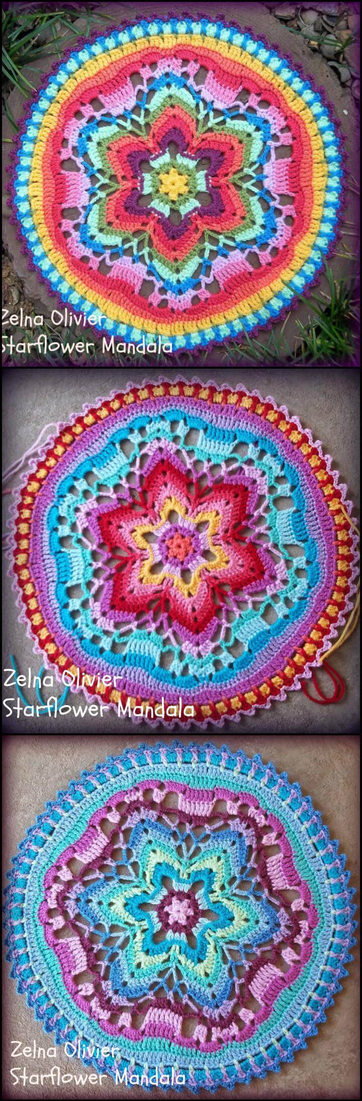 easy crochet starflower mandala
