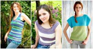 50+ Quick & Easy Crochet Summer Tops – Free Patterns
