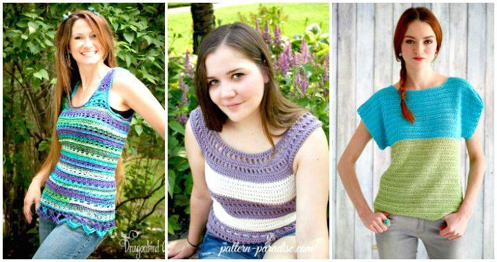 ad6701e84 50+ Quick   Easy Crochet Summer Tops - Free Patterns - DIY   Crafts