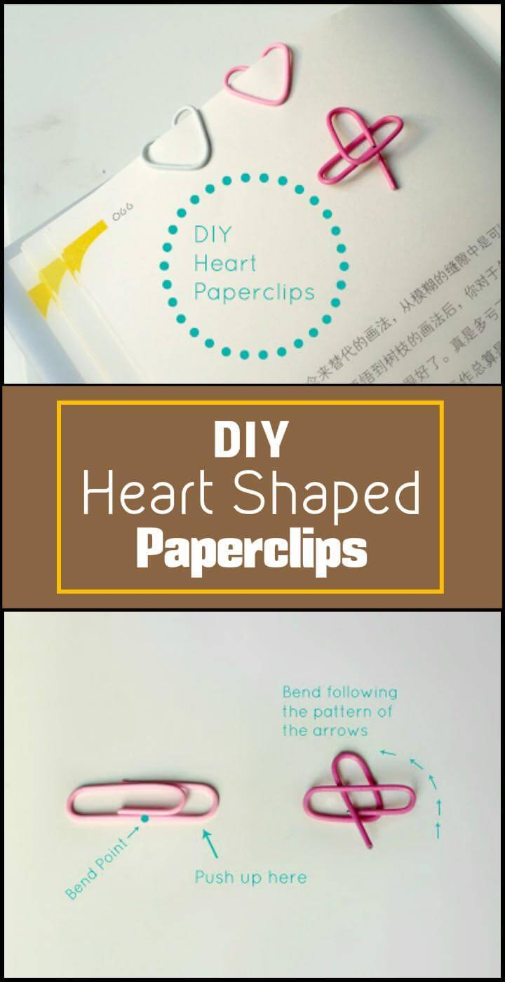 handmade heart shaped paperclips