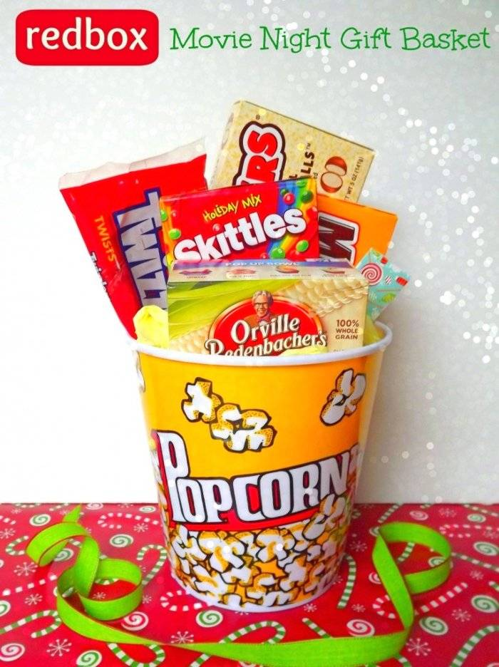 DIY movie night gift basket