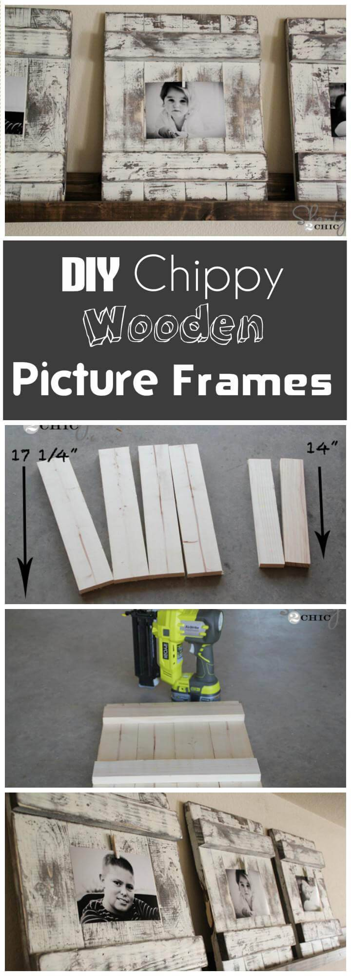 handcrafted chippy wooden picture frame