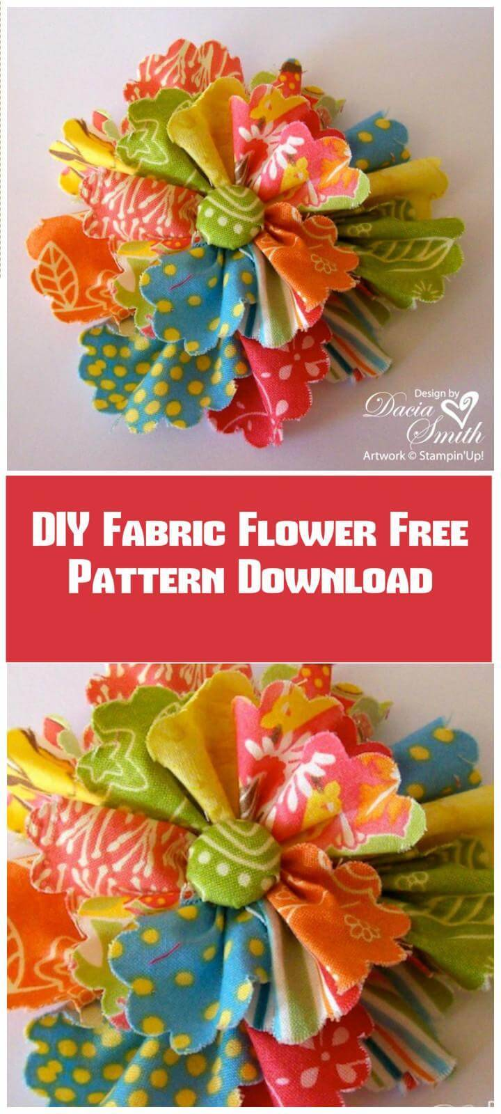 DIY easy fabric flower pattern