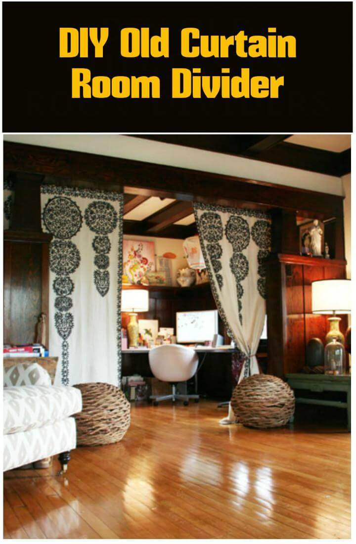 easy old curtain room divider