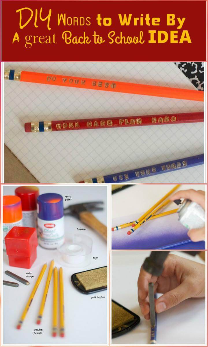 easy personalized pencils