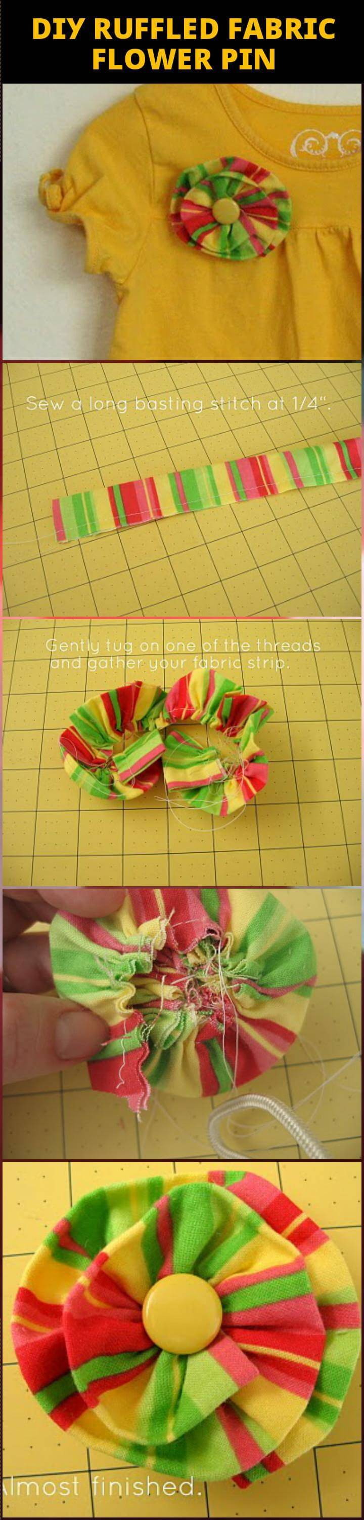 50 Easy Fabric Flowers Tutorial Make Your Own Fabric Flowers Diy