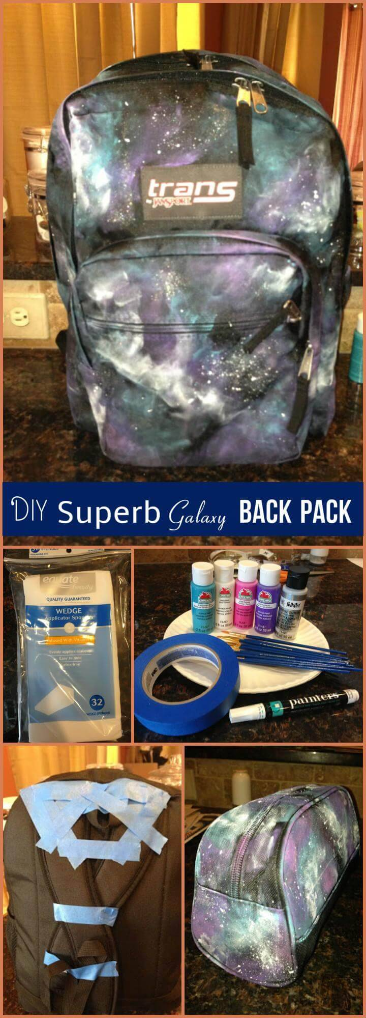 easy galaxy back pack