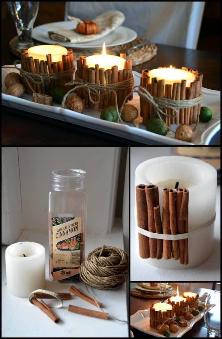 handmade cinnamon stick candles