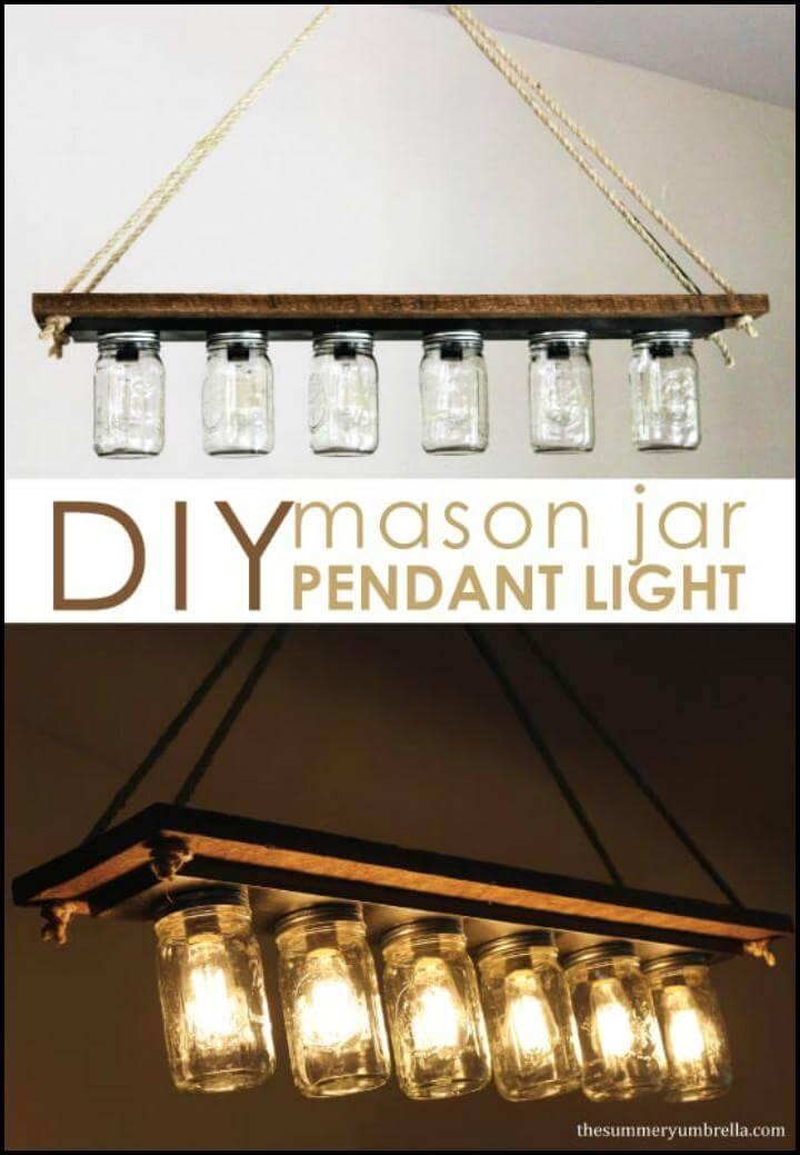 repurposed mason jar pendant light