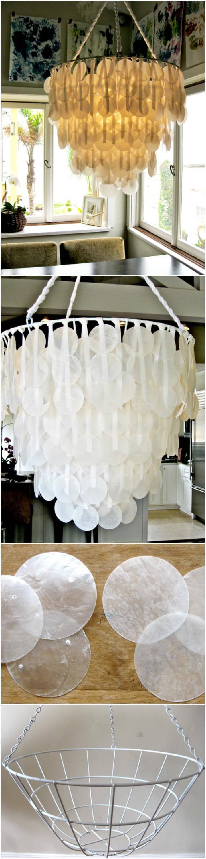 easy Brenna's paper capiz shell pendant light
