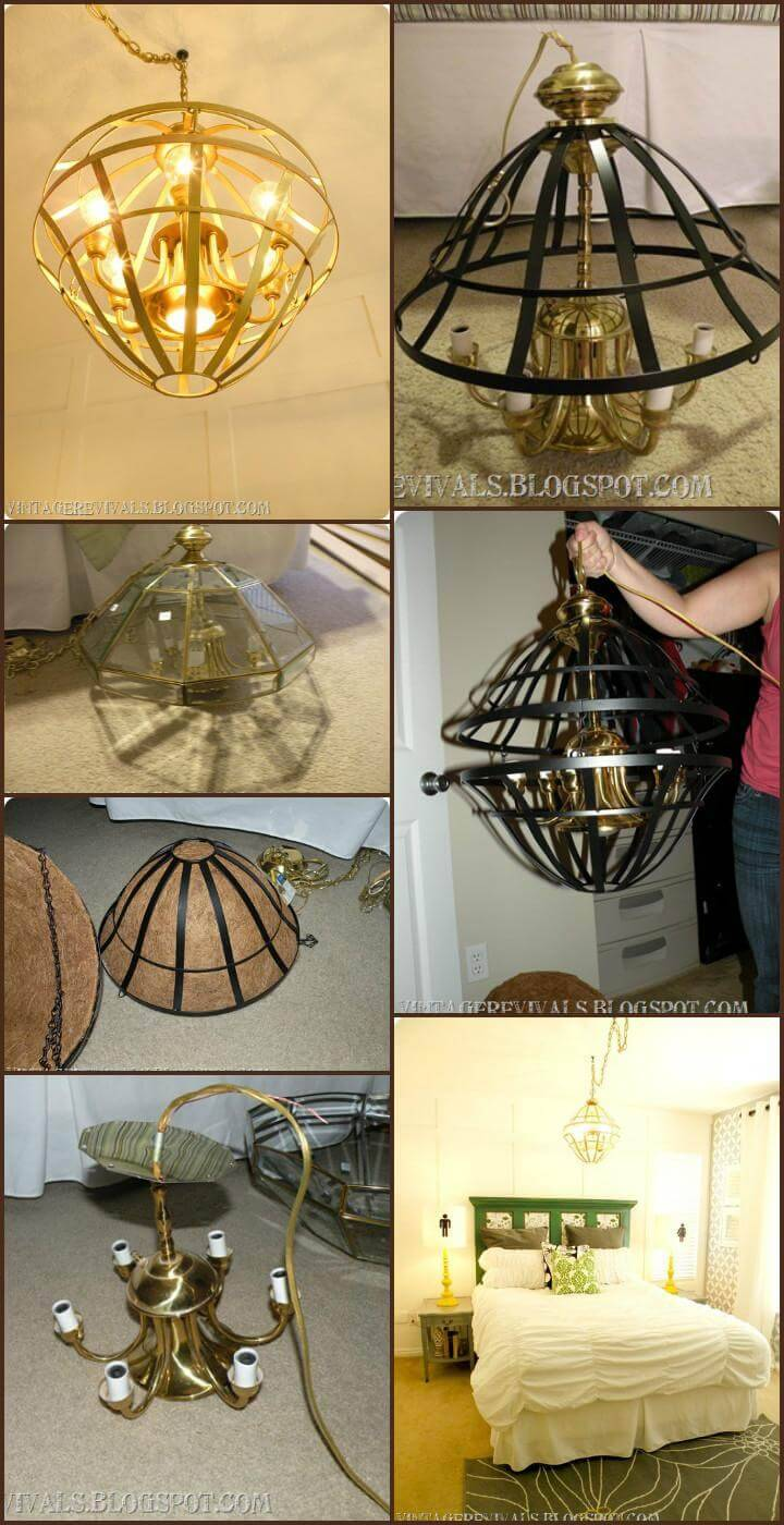 self-made modern caged basket pendant light